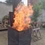 """печь для сжигания мусора """"Испепелятор с дымоходом"""""""