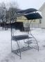 кованый мангал с крышей Московский