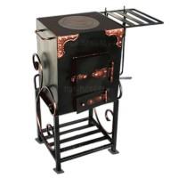 кованая печка с полочкой
