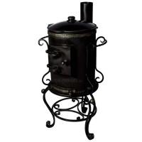 """Печь для казана """"Шанхай"""" с дымоходом и чугунным казаном 9 литров"""