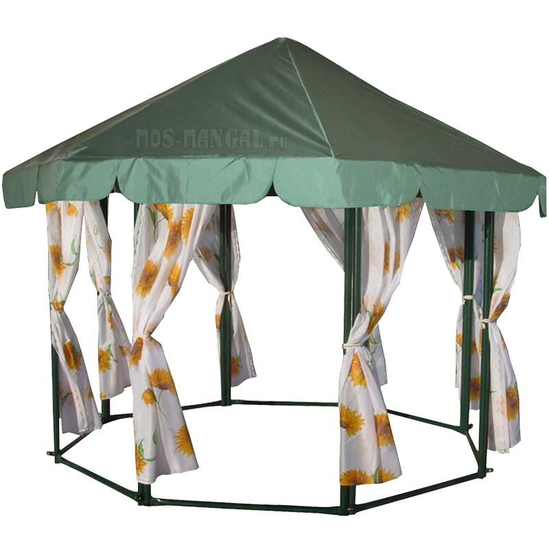 Шатер садовый БСШ Маленький (диаметр 2,6м) + шторы