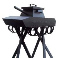 Мангал-танк с коптильней в башне