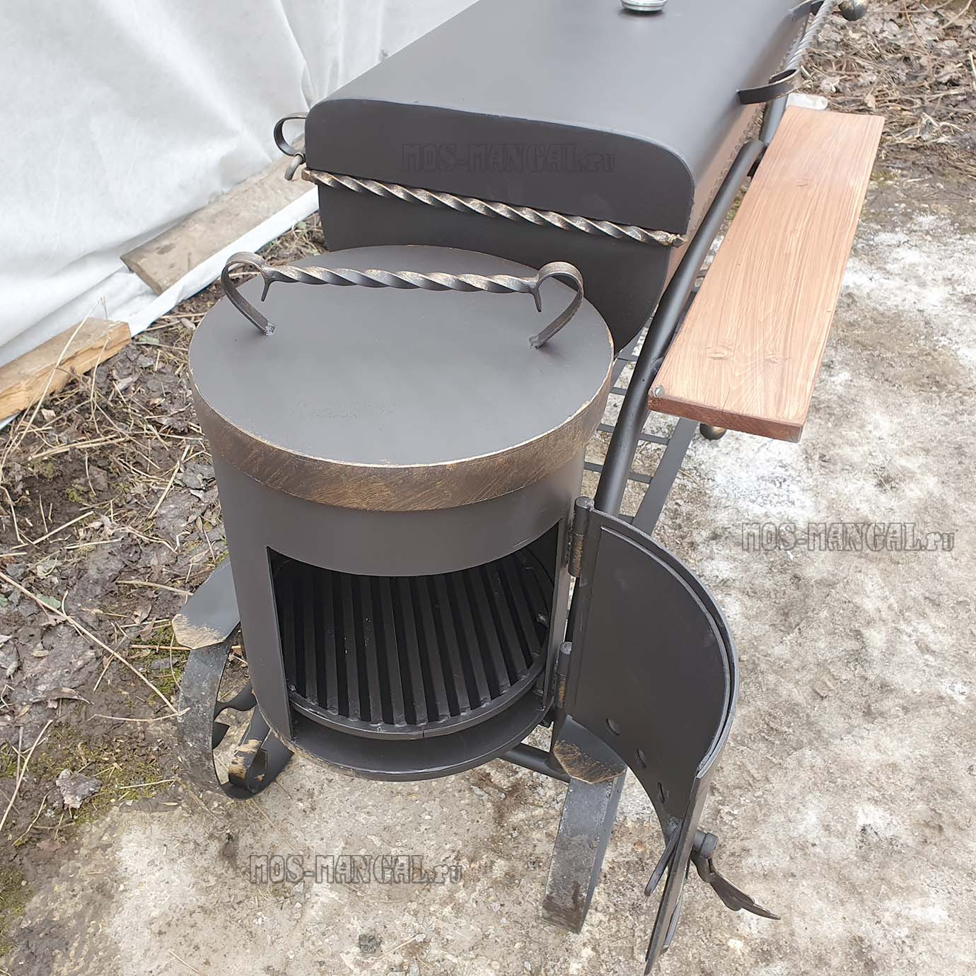 "печка мангала ""Карета BBQ с печкой"""