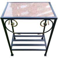 Столик с гранитной плиткой СГП 60*40см