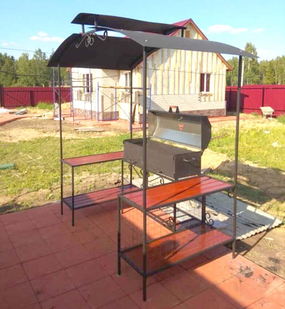 Мангал-барбекю ММ-27-3БР (сталь 5 мм)