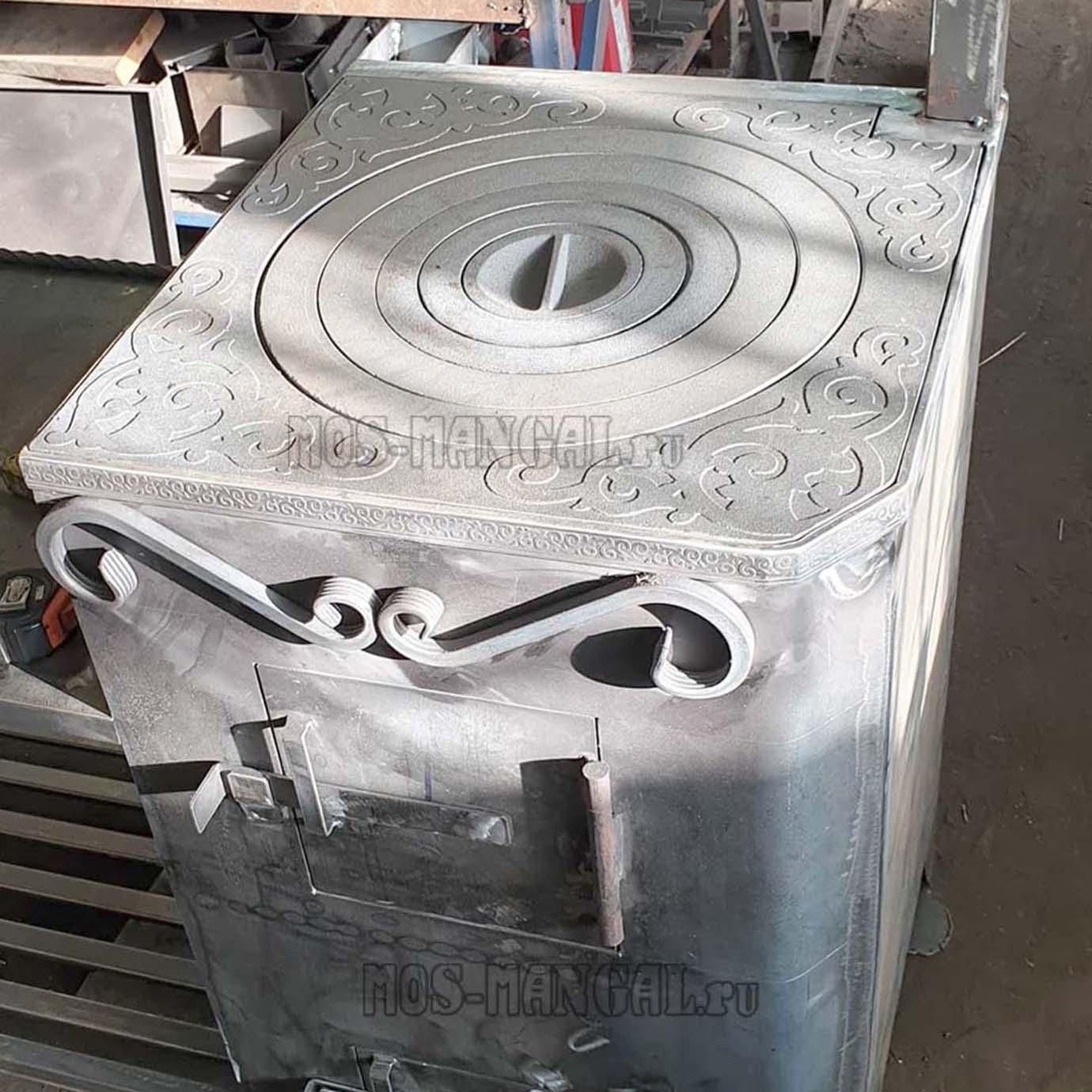 печка с чугунной плитой