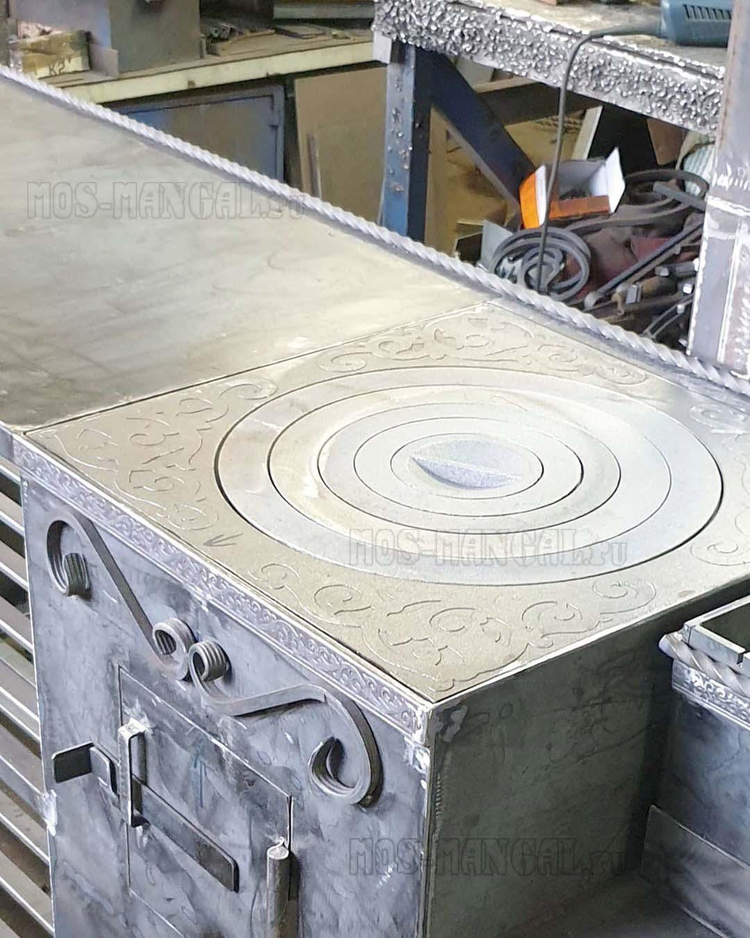 чугунная наборная плита печки